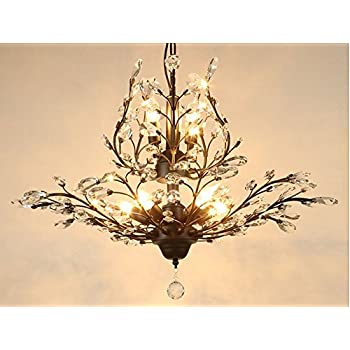 LightInTheBox Modern Contemporary Crystal Chandelier with 6 Lights ...