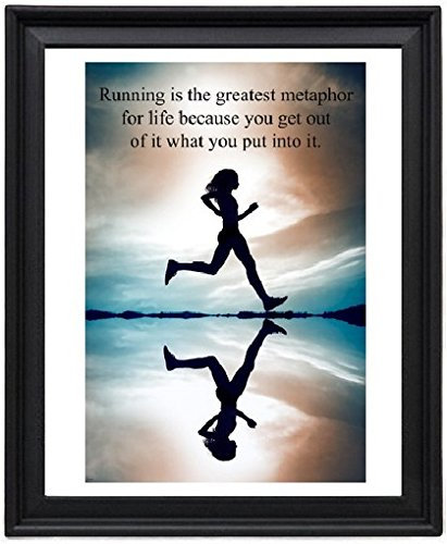 Woman Running Inspirational Quote Picture Frame - Poster - - With Quotes Photos Running