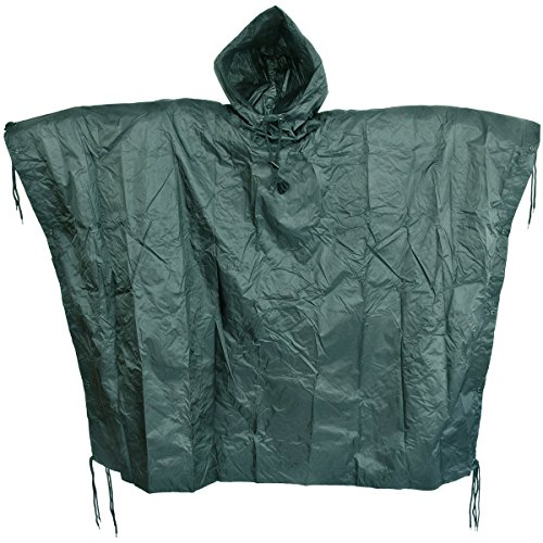 Waterproof Ripstop Hooded Festival Poncho product image