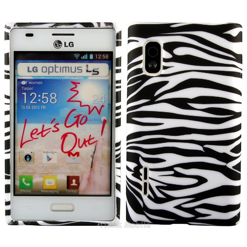 LG G4 Caso Elegante - Negro Tpu Gel Funda Case Para El LG G4 - thinkmobile cebra