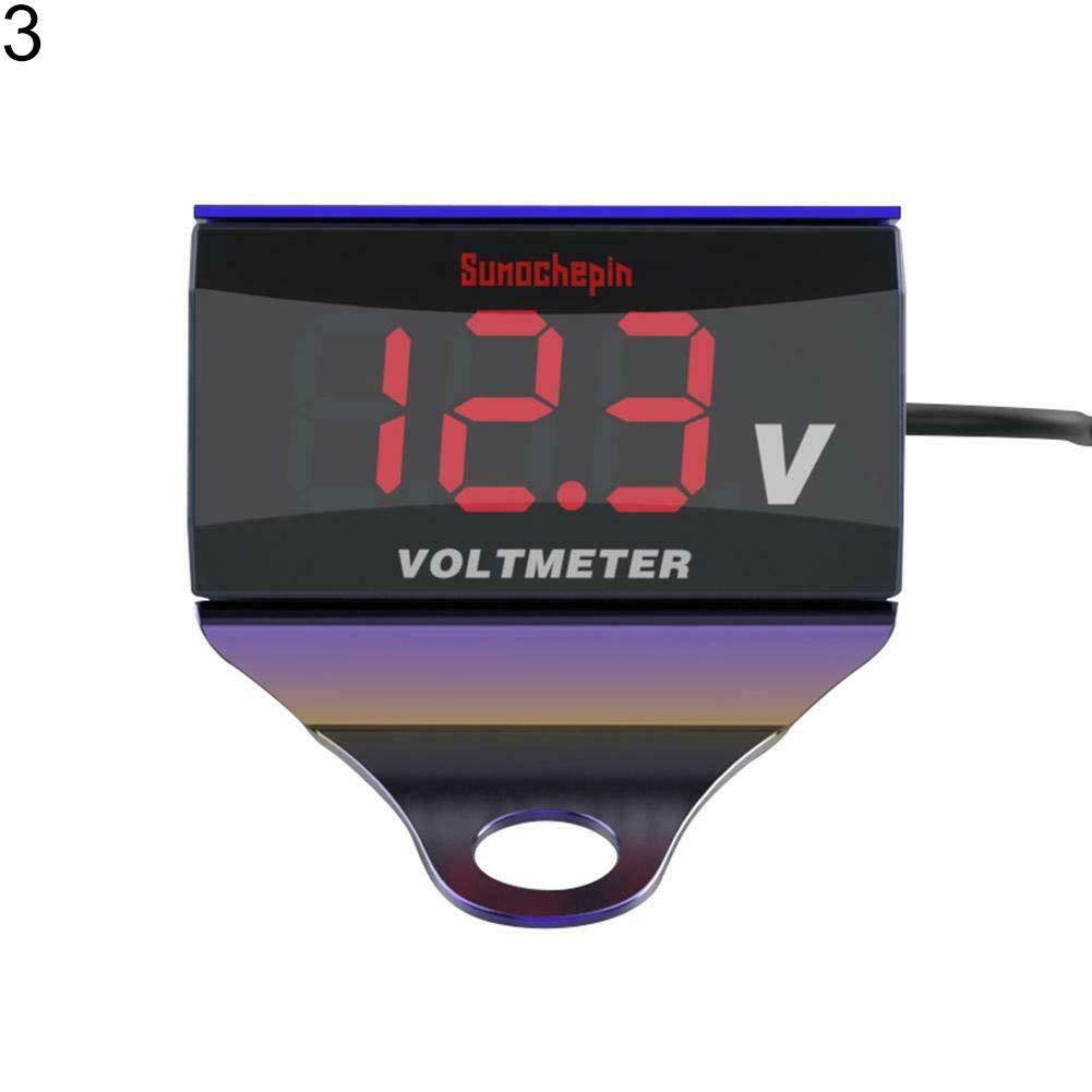 12V Motorcycle LED Digital Display Voltmeter Voltage Volt Gauge Panel Meter 1# dezirZJjx Motorcycle Voltmeter