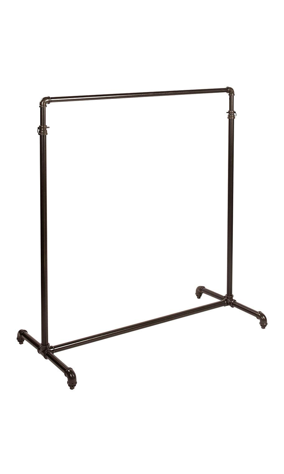 Retails Single Rail Ballet Bar Clothing Display Rack 48'' W x 23½�D x 48''-72'' H