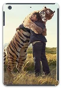 iPad Mini Retina Case, iPad Mini Retina Cases -Man Hugging Siberian Tiger Polycarbonate Hard Case Back Cover foriPad Mini Retina