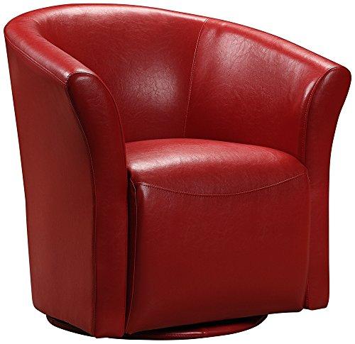 Elements Rocket Swivel Chair in Red