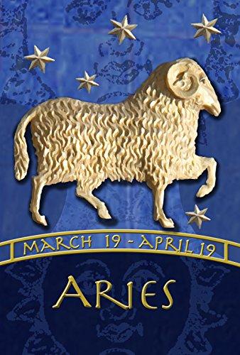 Toland Home Garden Zodiac Aries 28 x 40 Inch Decorative Astrology Sheep Sign House Flag