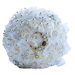 Gym Compression&Tights Artificial Flower Wedding Handheld Rose Ribbon Bionic Flower Bride Rose Handheld Flower Family Decoration 108