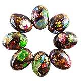 JCGJ Semi Precious Stones,Healing Jasper Stone Oval Cab Cabochon for Jewelry Making(25x18x7mm,8pcs)