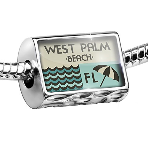 Bead US Beaches vacation West Palm Beach Charm Fits All European - U West Beach Fit Palm