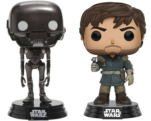 Star Wars Episode VII Tradeables Fathead Stickers Bundle SW AYB AYB Products Funko Rogue one Character Pop Captain Cassian Andor #139 /& K-2SO #146 Droid Bobble Head