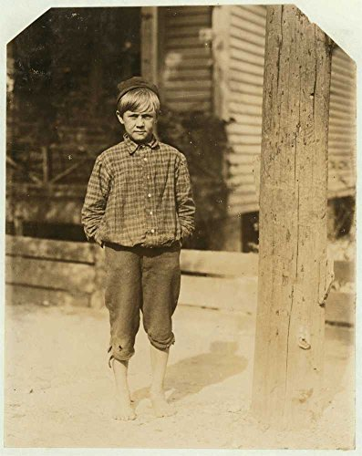 1913 Photo Bruce Tillery, 10 years old. Swept in Eagle Mill, Columbus, Ga. last summer and going to work again next week. Been toting 13 dinners a day. Mother gets most of the money. Several brothers