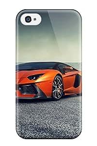 Durable Protector Case Cover With Vorsteiner Lamborghini Aventador V Zaragoza 2014 Hot Design For Iphone 4/4s
