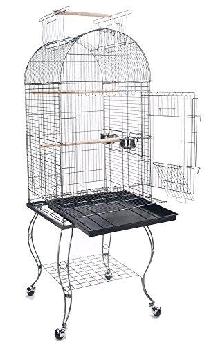 Bird Parrot Cage Cockatiel Amazon African Grey Caique Conure, 20 X 20 X 65h