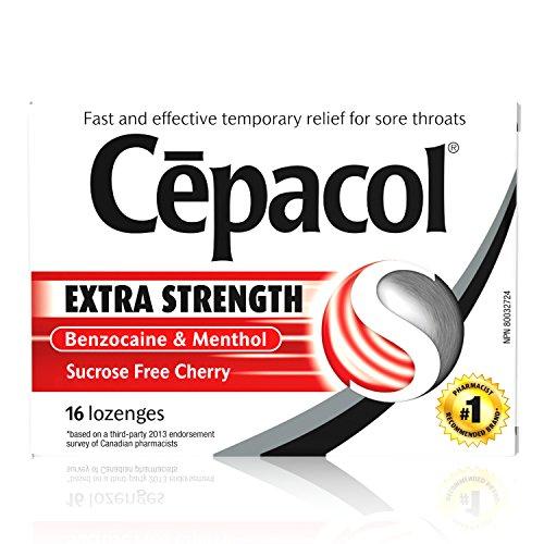 Cepacol Maximum Strength Throat Drop Lozenges, Cherry, 16 ct (Pack of 3) (Best Numbing Cough Drops)