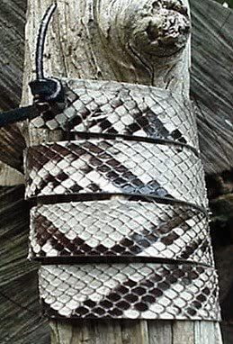 Western Hatband B /& W Python Snake Skin W Ties New