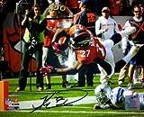 Athlon CTBL-013807 Knowshon Moreno Signed Denver Broncos 11 X 14 Photo - Orange Jersey Td Dive - Moreno Hologram