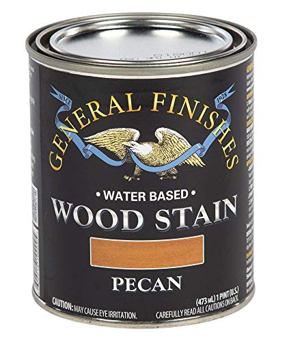 General Finishes WPPT Water Based Wood Stain, 1 Gallon, Pecan, 1 Pint,