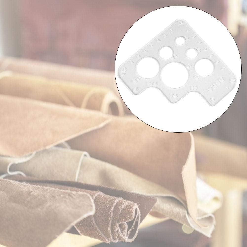 Digitare Un Modello di Cerchio Acrilico Trasparente Modelli di Angoli di Cucitura Strumento di Posizionamento in Pelle Modello di Cucitura di Fori per Angoli Rotondi
