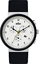 Braun Men's BN0035WHSLBKG Classic Chronograph Analog Display Quartz Black Watch
