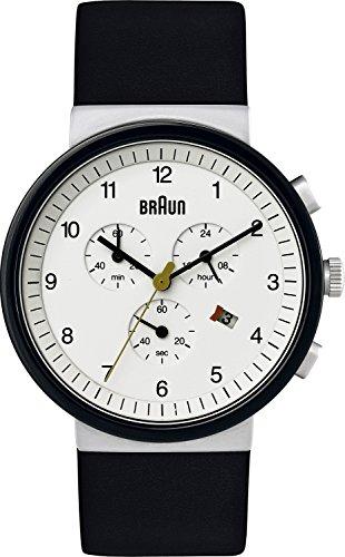 Braun Men's BN0035WHSLBKG Classic Chronograph Analog Display Quartz Black Watch