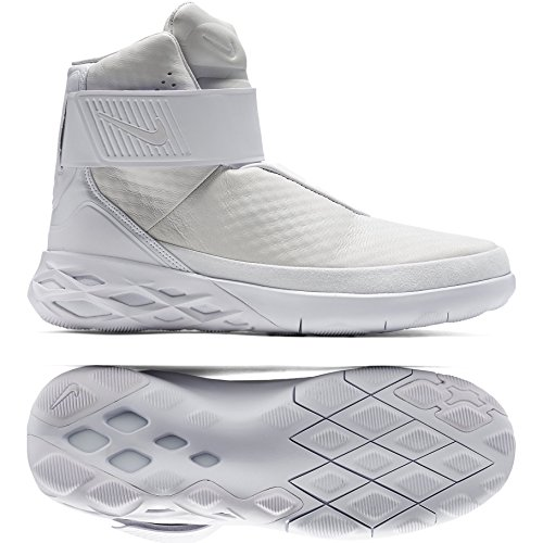 Nike Swoosh HNTR Hunter 832820-101 White Leather Phylon Lace-Free Men's Shoes (size 9) (Shoes Laceless Nike)