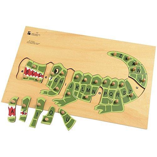 Doron Wooden Alphabet Alligator Puzzle for Kids