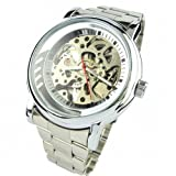 Youyoupifa hollow transparent dial Stainless steel Strap Automatic Mechanical Watch