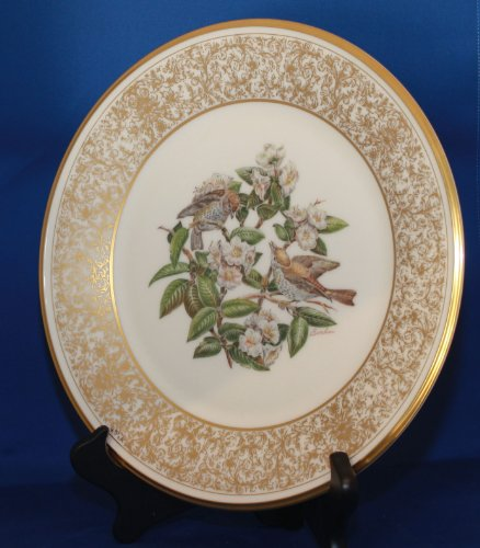 Lenox Edward Marshall Boehm American Birds Plate Collection - The Wood Thrush - Limited 1970 Annual Edition