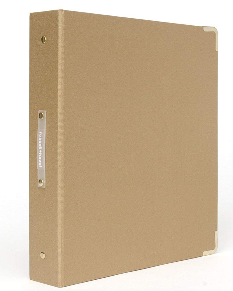 russell+hazel Medallion Bookcloth Signature 3 Ring Binder