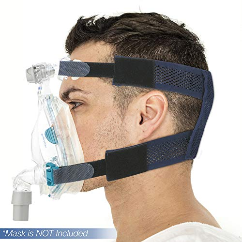 SUPOTTO BELT CPAP Headgear | Breathable & No Slip Mesh Replacement Straps for Sleep Apnea | Durable & Compact Sleeping Gear | Easy to Wear & Leaves No Marks | Designed & Made in Japan | Medium 54-59cm