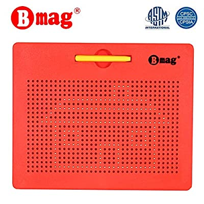 Magnetic Drawing Board Free Play Doodle Drawing Board Tablet Pad with Stylus Learning Writing STEM Travel Toy for Toddler Kids: Toys & Games