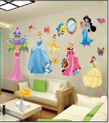 Enfants Stickers Muraux Grand Disney Princesse Autocollants Filles