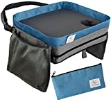 kids travel lap tray - Kids Travel Tray Car Lap Desk | Portable Activity Table for Lunch and Snacks | Durable Waterproof Doubles as Carrying Bag | Fits Toddler Carseat or Booster Seat by Tranquil Traveler
