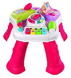 VTech Baby 148053 Play & Learn Activity Table, White/Pink