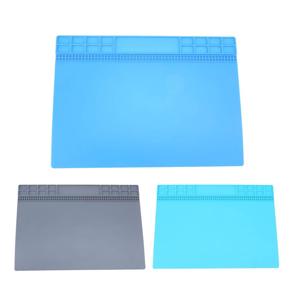 Bleu Soudure Silicone Tapis Entretien Isolation Thermique Station Bureau Pad Set
