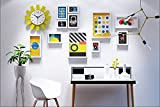 ALUS- 11 Multi Photo Frames Set Modern Simple Nordic Style Creative Bedroom Wall Photo Picture Wall Frame ( Color : White )
