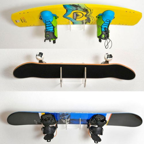Amazon.com : 4boarder SINGLE wall mount board rack for wakeboard, snowboard, kiteboard, longboard, skateboard, wakeskate, skimboard, pennyboard, ...