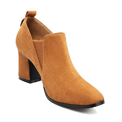 Haut Mode Bout Bottines Bottes Femme Chelsae Chaussures Talon Carr Inconnu Bloc gxqF4BwH