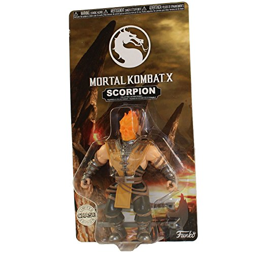Funko Action Figure - Mortal Kombat S1 - SCORPION (Flaming Head) Chase