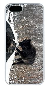 case glitter cases black wolf PC White Case for iphone 5/5S