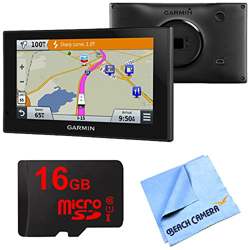 Garmin 010-01535-00 RV 660LMT Automotive GPS 16GB Micro SD Card Bundle includes Garmin RV 660LMT GPS, 16GB Micro SD Memory Card and Beach Camera Microfiber Cloth by Beach Camera