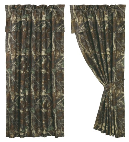 HIEnd Accents Realtree Oak Camo Curtain, 60