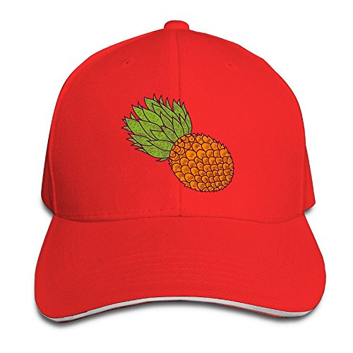 Red Gummy Bear Costume (Pineapple Casual Unisex Unstructured Cotton Cap Adjustable Baseball Hat Cap Red)
