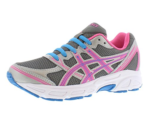 ASICS Pariot 6 GS Running Shoe,Charcoal/Turquoise/Hot Pink,1