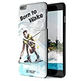 iPhone 6 Plus Case, Born For Wakeboarding. Sensocase Premium Extreme Sports Unique Designer Tough Shell Thin Cover. Luxury, Anti-Fingerprint, Anti-Scratch Stylish Slim Protective Apple Phone 6S Cases.