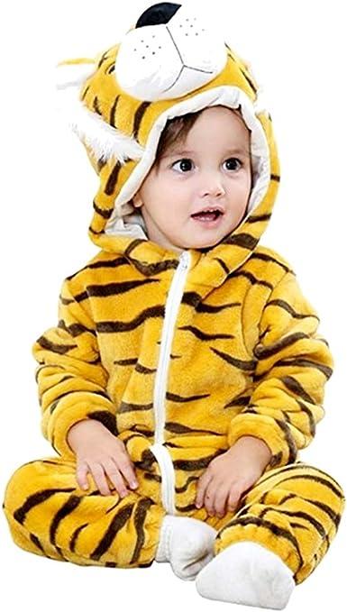 Pijama de tigre - pijama de tigre bebé - niño - sin pies - forro ...