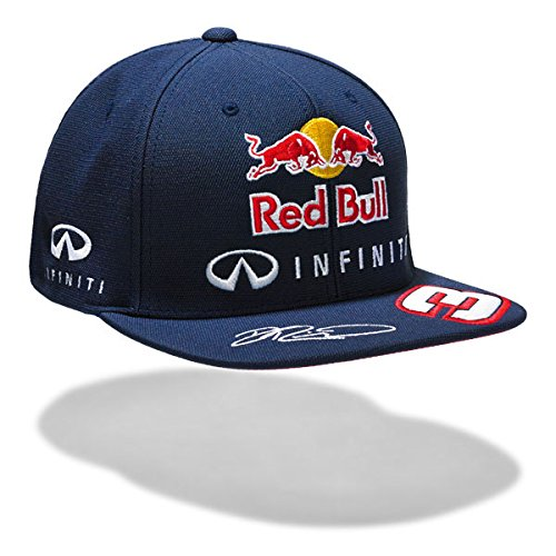 Red Bull Racing Herren Irbr Ricciardo Flat 2015 Cap, Total Eclipse, One Size