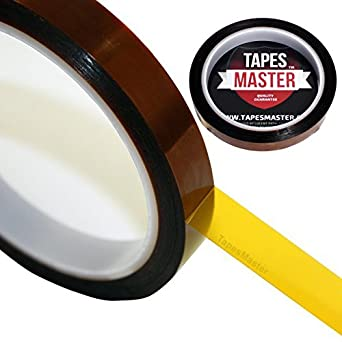 "1 Mil Kapton Tape (Polyimide) - 1/2"" X 36 Yds"