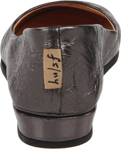 Slip Francés Para Mujer Zeppa Único En Zapatos Nappa Gunmetal