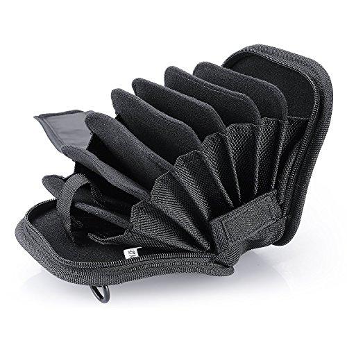 Neewer 8-in-1 Black Color Filters Bag Shoulder Bag for 25mm-95mm Color Filter Lens Filter