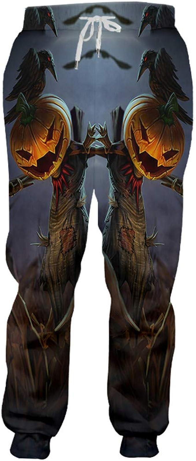 Happy Halloween Crow Theme Pantalones Deportivos 3D Impreso ...